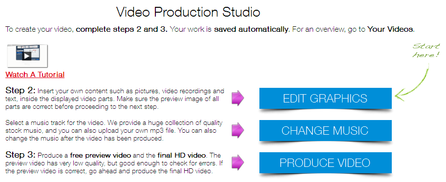 MakeWebVideo Review - How to create an Animated Video Presentation online step 2