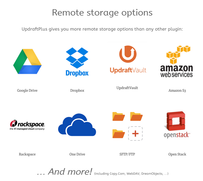 UpdraftPlus Review - Unique Features - Easy Storage with UpdraftVault