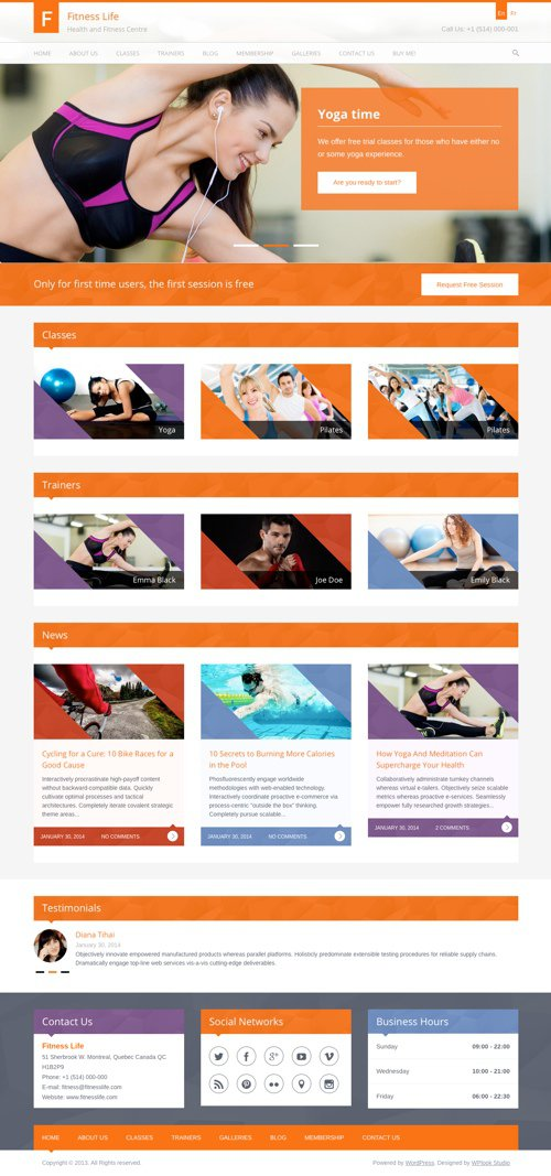 Fitness Life Theme from WPLook